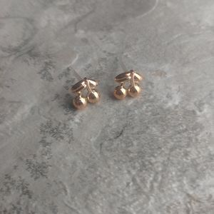 5 for $8 Rose Gold Cherry Earrings